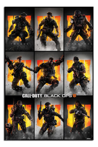 Call Of Duty Black Ops 4 Characters Poster New Maxi Size 36 x 24 Inch