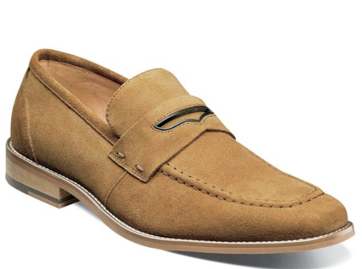 Stacy Adams Colfax Penny Loafer shoes Tan Suede 25205-240
