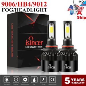 Details about 2X 9006 HB4 9012 COB LED Headlight Bulbs White1200W 260000LM  6000K High Low Beam