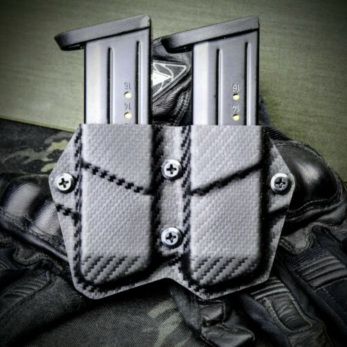CZ P10c P10F P10S Custom Kydex OWB Double Mag Holster Magazine Carrier Pouch CF