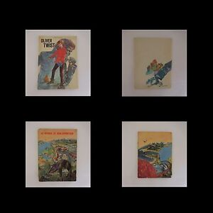 2-Libros-Oliver-Twist-Charles-Dickens-Mundo-y-Sonido-Vintage-1960-1968