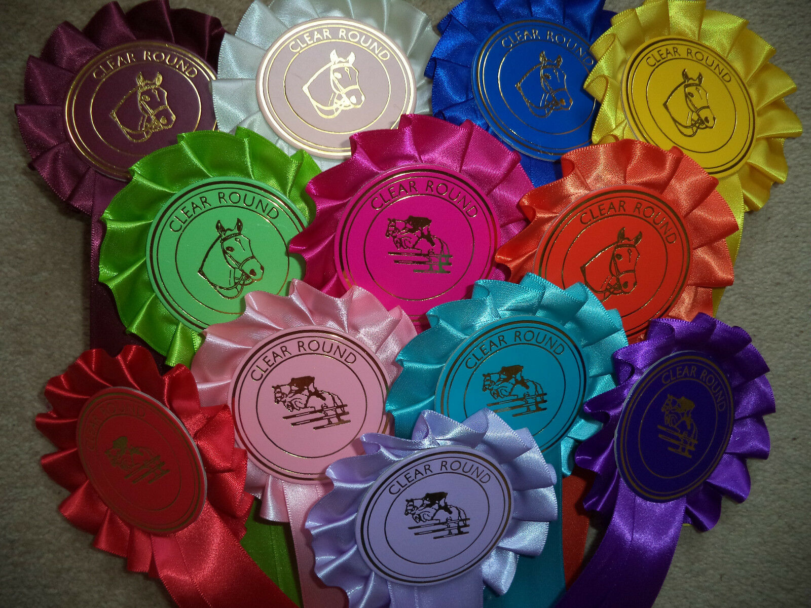 Clear Round pinkttes 50 x 1 Tier  mixed colours