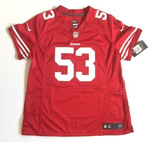 sale retailer c86d5 a9b97 Details about NIKE ONFIELD SAN FRANCISCO 49ERS BOWMAN WOMEN'S JERSEY  STITCHED 53 NEW XL $145
