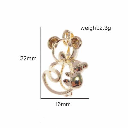 1pc couleur or laiton Mignon Koala Médaillon Perle cage Collier Charme avec 80 cm chaîne