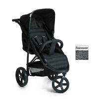 Hauck Caviar / Black Rapid 3 Pushchair Stroller Baby Buggy With Raincover