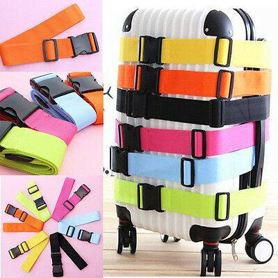 New Adjustable Travel Luggage Suitcase Buckle Tie Down Strap Packing Belt