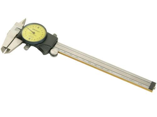 CALIBRO A CORSOIO CINQUANTESIMALE PRECISIONE 0//150mm QUADRANTE  OROLOGIO MYT 412