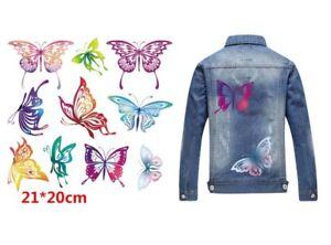 Aimable Bügelbild Papillons Cintres Transfert, Application Pour Leurs Textiles-afficher Le Titre D'origine