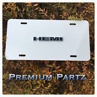 Dodge Hemi License Plate 3d Emblem Custom White Aluminum For Ram Charger