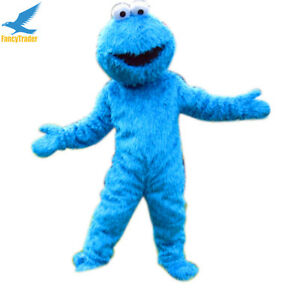 Image is loading Sesame-Street-Elmo-Cookie-Monster-Adult-Mascot-Costume-  sc 1 st  eBay : cookie monster costume ebay  - Germanpascual.Com