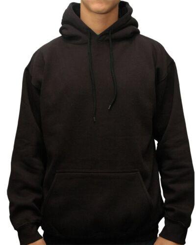 Men/'s Premium Heavyweight Pullover Hoodie Hooded Fleece Sweatshirt Solid Cotton