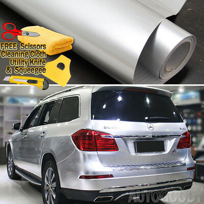 Super Gloss Gray Metallic Gunmetal Vinyl Film Wrap Air Bubble Free 7ft x 5ft