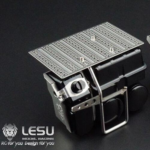 Caja de Batería de Metal LESU Tanque de urea B 1 14 Modelo Radio Control Tamiya Benz 1851 Camión Tractor