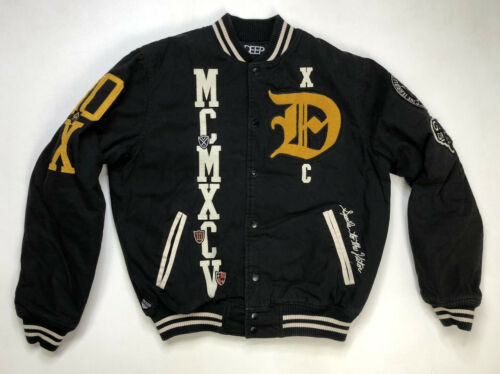 10 Deep Varsity Jacket Men's Adult Large Black Pat