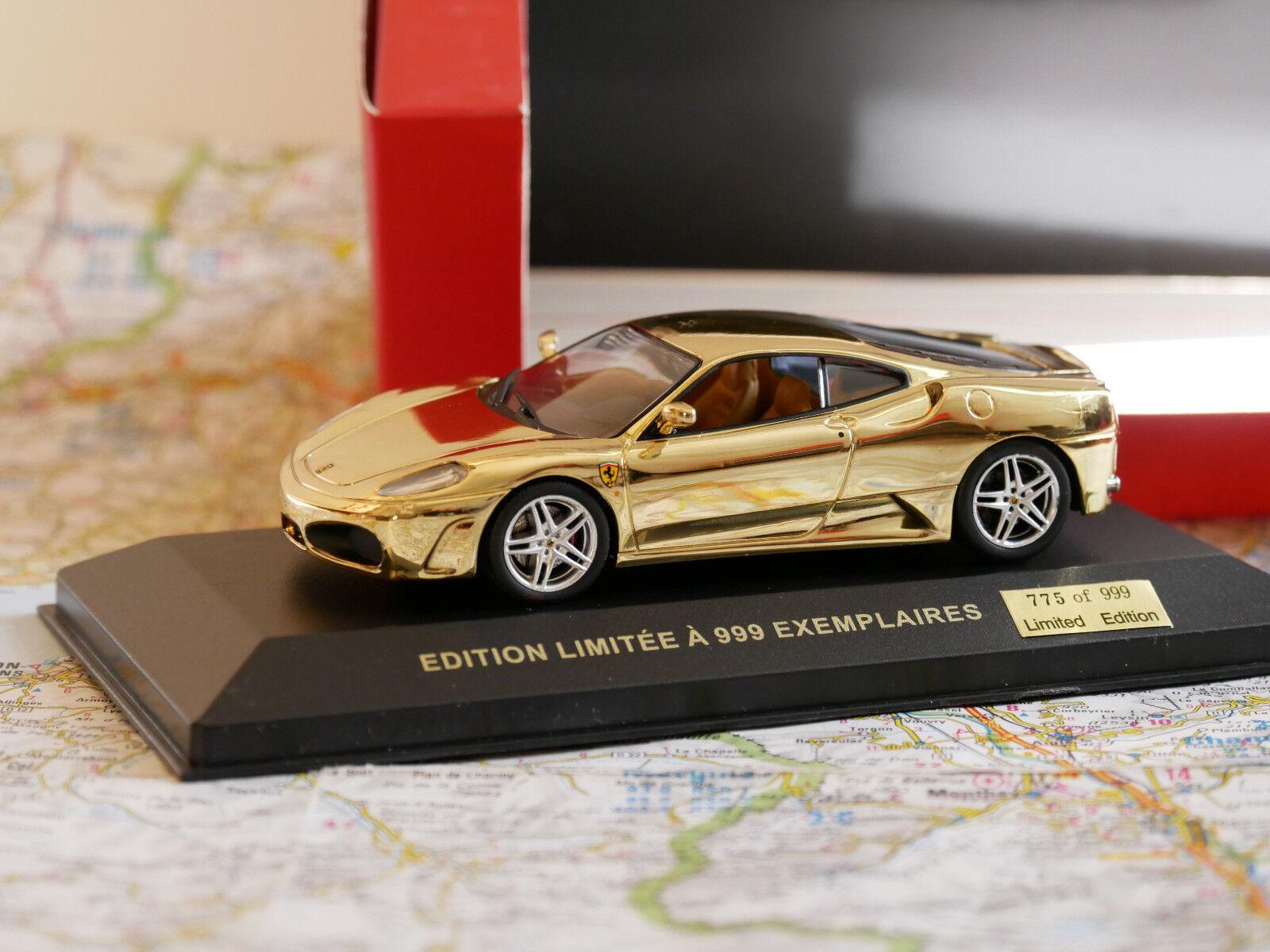 Ferrari f430 2005 ixo Gold limited edition art.cof024 händler 1 43 neue ausgabe