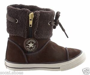 6240f47ad2c8e3 Details about Converse Chuck Taylor Andover Infants Toddler Chocolate Hi  Top Winter Boots New