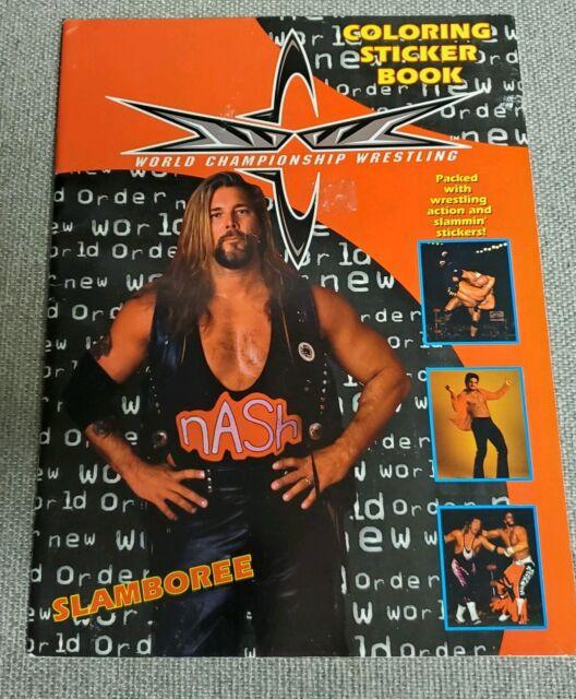 - WCW 1999 Slamboree Wrestling Sticker Album Coloring Book For Sale Online  EBay