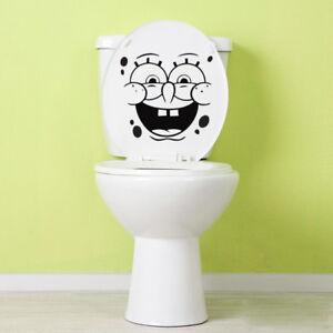 Spongebob Face Toilet Decal Sticker Wall Laptop Window Funny Door