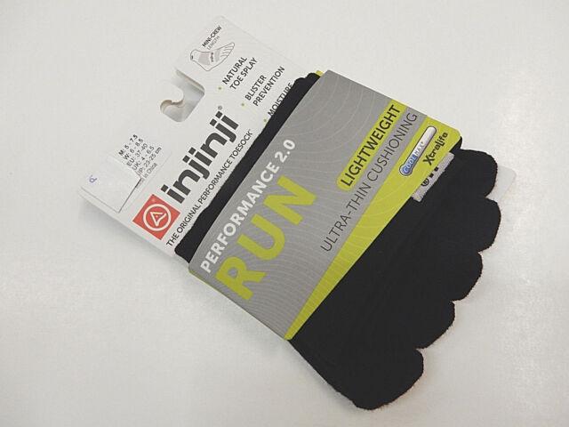 Gray Small Injinji Run Original Weight Mini-Crew Xtralife Socks