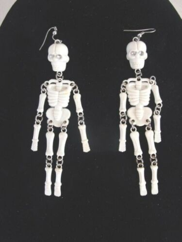 "Nice Pair Of 4"" Skeleton Dangle Earrings"