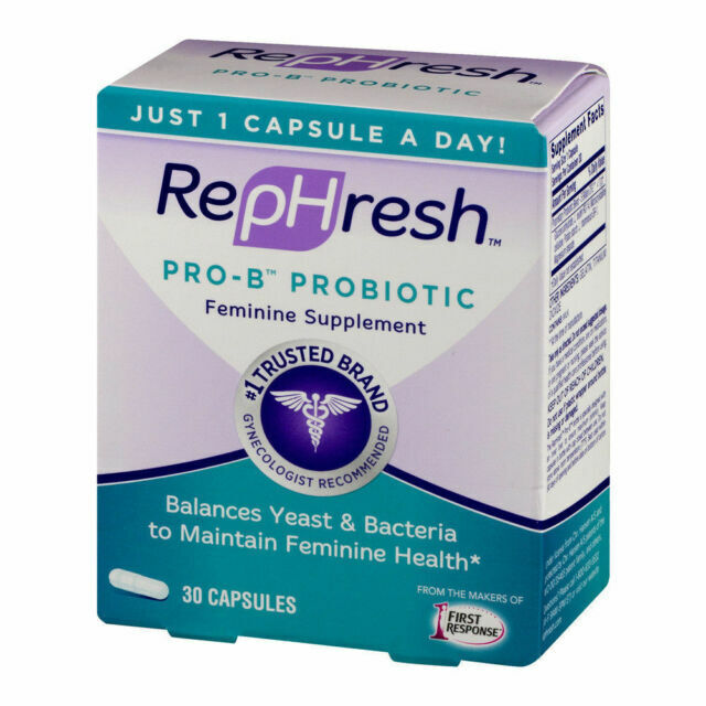 RepHresh Pro-B Probiotic Supplement for Women, 30 Oral Capsu