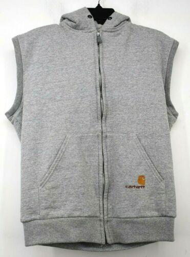 Carhartt Mens Gray Full-Zip Kangaroo Pocket Sleeve