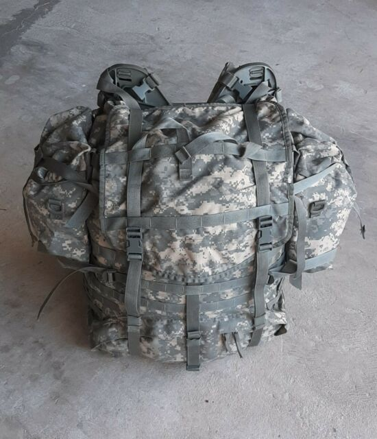 US ARMY ACU MOLLE II LARGE RUCKSACK MAIN PACK COMPLETE w// POUCHES US MILITARY VG