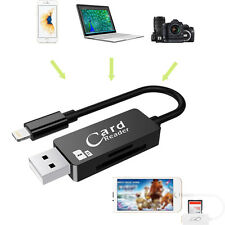 2 in 1 USB TF/SD Card Reader Charger Adapter for iPhone IOS iPad Windows Linux
