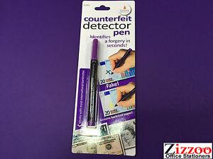 Counterfiet Argent Détecteur Stylos En Pack De 5-afficher Le Titre D'origine