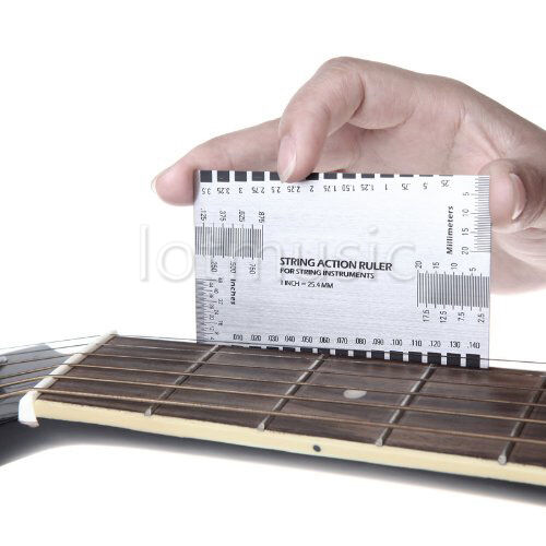 Stainless Steel String Action Ruler Gauge Tool  for Guitar Bass Mandolin Banjo