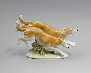 9942660-Porcelain-Figurine-Greyhounds-Borsoi-Wagner-amp-Apel-20x12cm