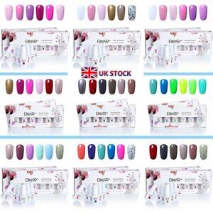 Elite99-6-Colours-UV-LED-Gel-Nail-Polish-Manicure-Kits-Gift-Set-Lacquer-Varnish