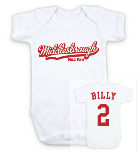 MIDDLESBROUGH FOOTBALL Personnalisé Baby Body