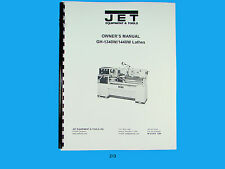 Jet Gh 1340with1440w Lathe Owners Manual 213