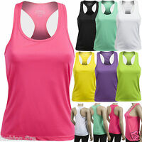New Womens Ladies Girls Branded OXER Racer Back Gym Yoga Running Casual Vest Top