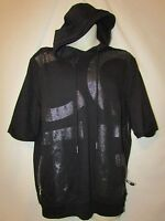 Mens Cote De Nuits S/s Sweatshirt Pullover Hoodie L Black