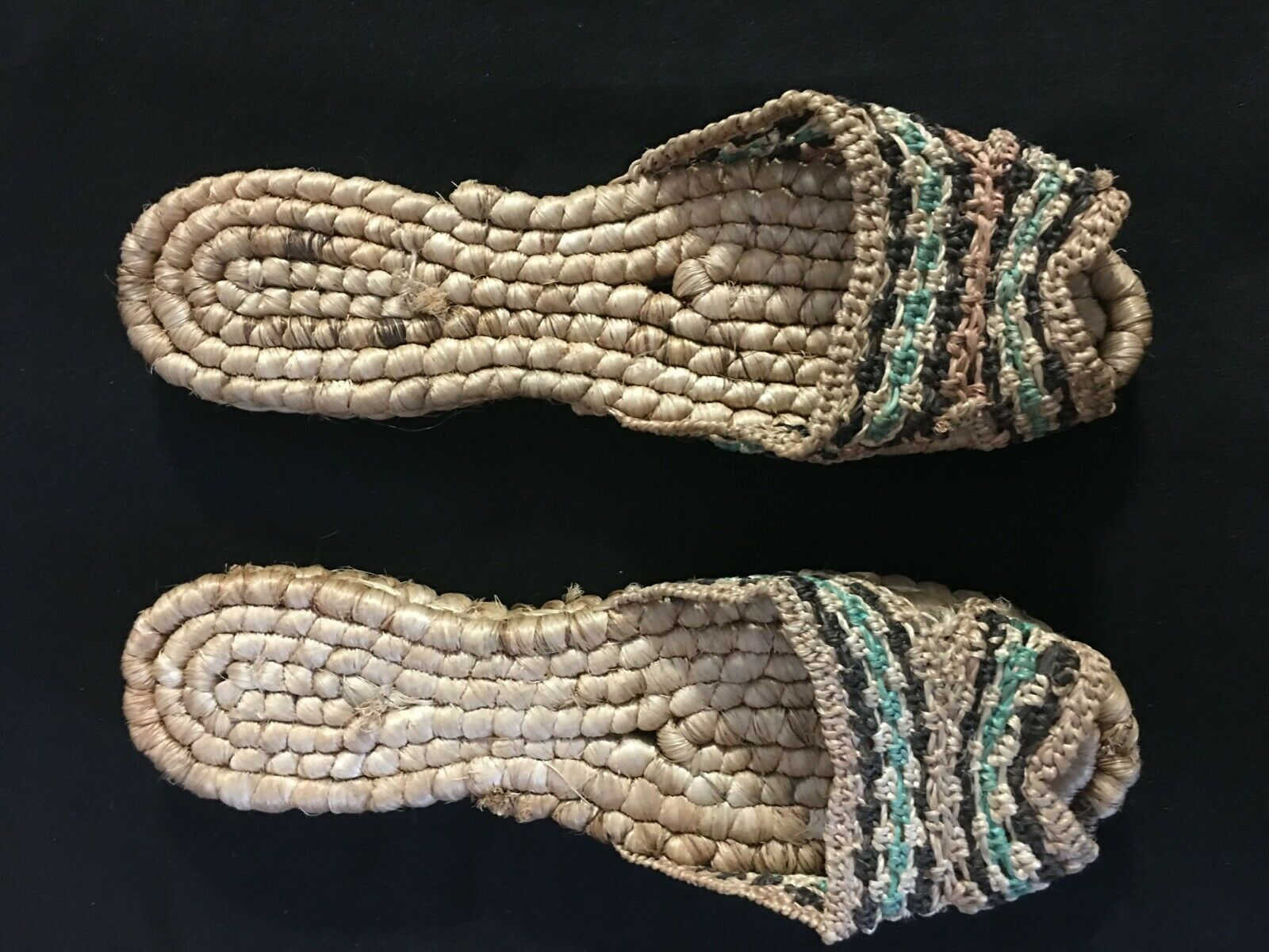 Vintage 1940's Hand Woven Women's Sandals from Ph… - image 1