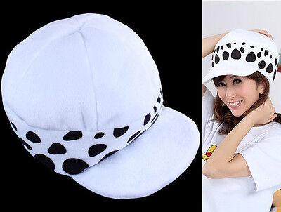 Hat 1 Piece Cosplay Trafalgar Law Hat Two Years Later Plush Cartoon Cap White T