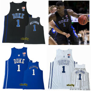 the best attitude 5dbf8 2609c Details about NCAA Duke Blue Devils University #1 Zion Williamson College  Basketball Jersey