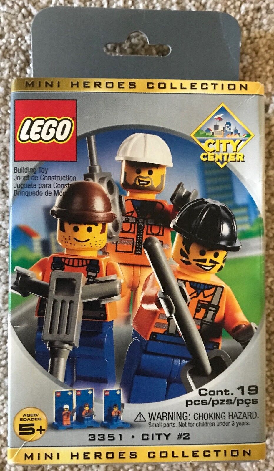 LEGO CITY CENTER Mini Heroes Collection (3351) NEW, SEALED, RETIRED RETIRED RETIRED 250001
