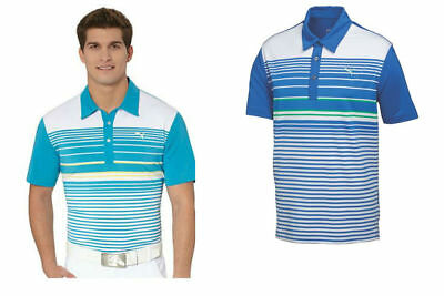 PUMA Mens Polo in Strong Blue