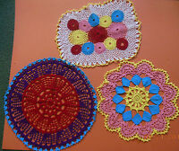Red/purple Pink Irish Crochet New-3 Choices-doily Table Topper-handmade