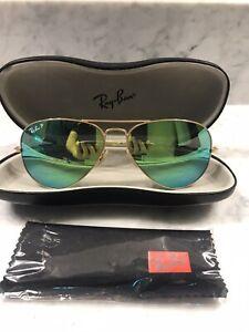 Ray Ban Oro Aviador Gafas De Sol Polarizadas 58 14 Para Mujeres Y Hombres Ebay