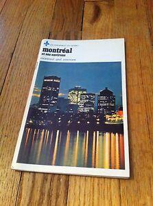 Vintage Montreal Canada Souvenir Card Books