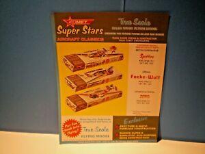 COMET FLYING MODELS Original 1960's double sided color dealer flyer  L@@K!