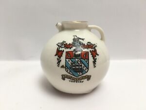 Vintage-Crested-China-Torquay-The-Gloucester-Jug-W-H-Goss