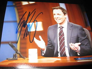 SETH-MYERS-SIGNED-AUTOGRAPH-8x10-PHOTO-LATE-NIGHT-PROMO-IN-PERSON-COA-SNL-ALUM-E