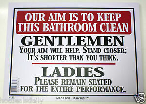 our aim is to keep bathroom clean men women toilet novelty