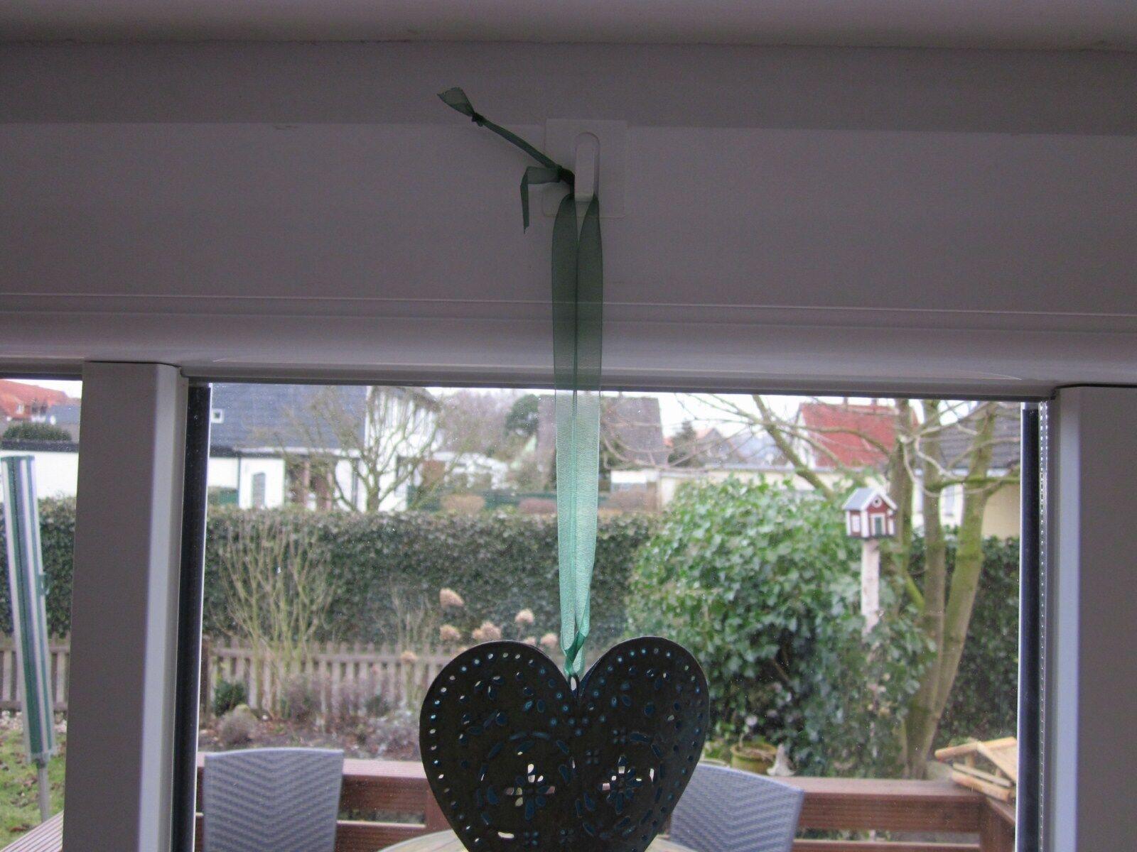 10 Fensterklipp braun Haken-Fenster-Aufhänger-Fensterdeko-Fensterhaken-504503