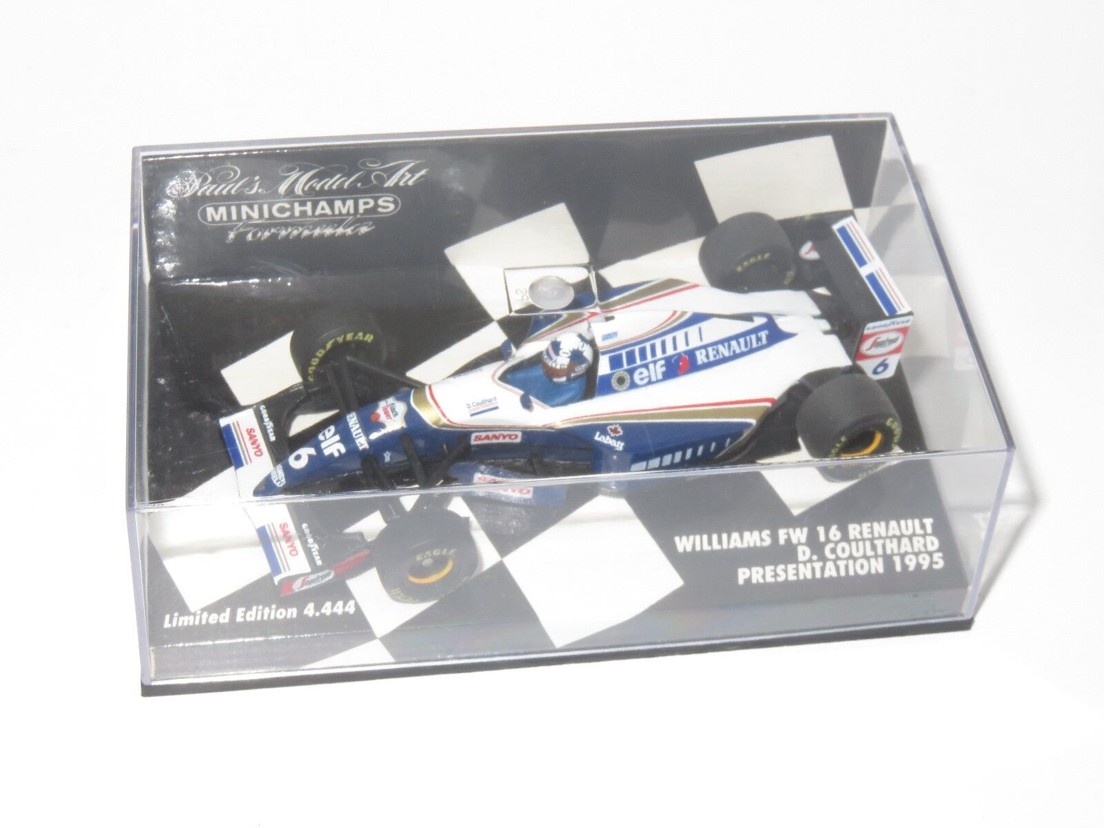 1 43 Williams Renault FW16  Presentation Car 1995   David Coulthard